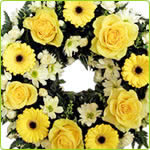 Yellow Rose & Germini Loose Wreath