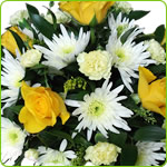 Yellow and Cream Posy